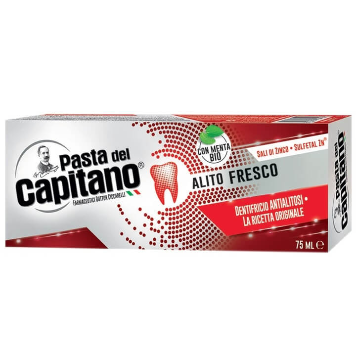 Pasta Del Capitano Fresh Breath Οδοντόκρεμα για Δροσερή Αναπνοή 75ml