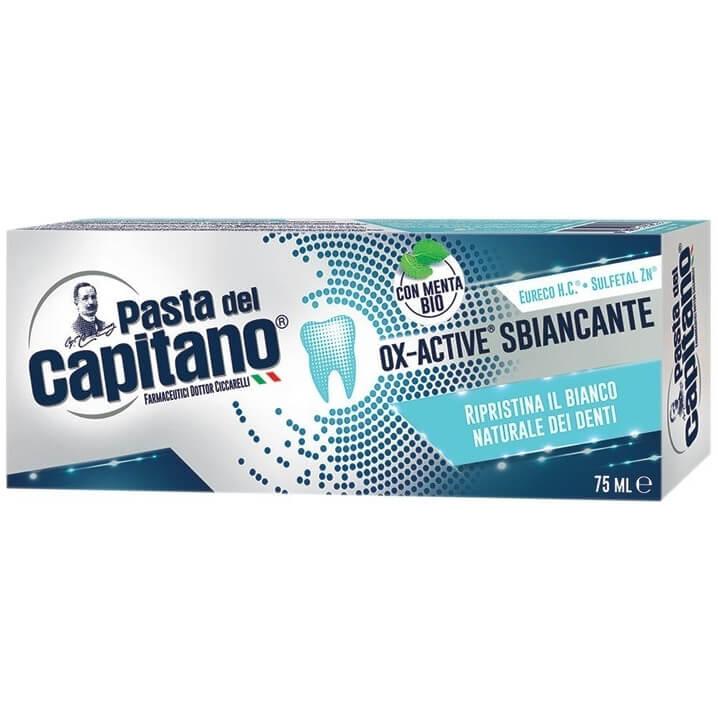 Pasta del Capitano Ox-Active Sbiancante Λευκαντική Οδοντόπαστα 75ml