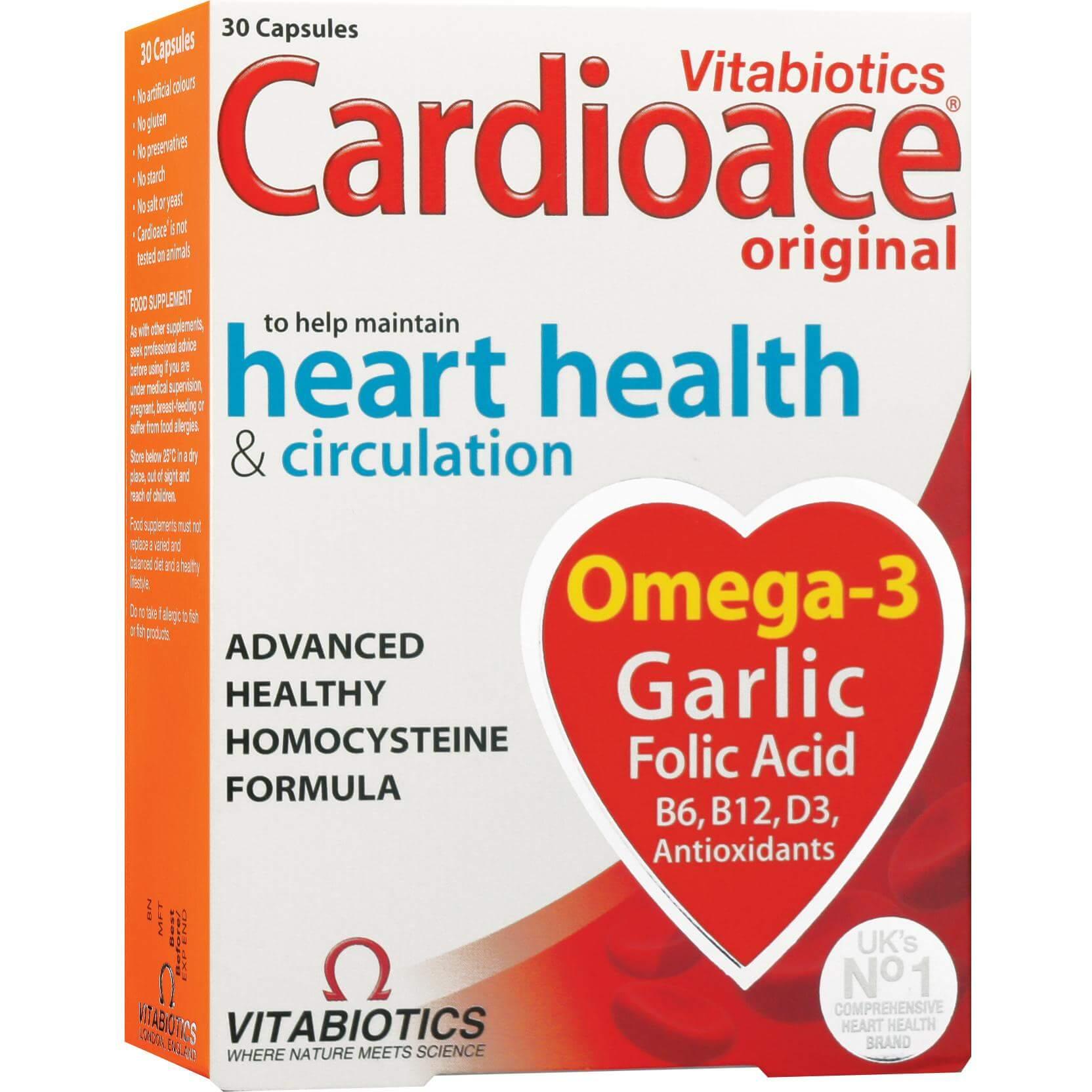 Vitabiotics Cardioace Συμπλήρωμα Διατροφής για την Υγεία της Καρδιάς 30caps