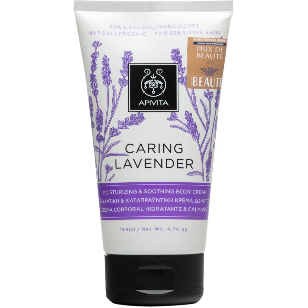 Apivita Caring Lavender Moisturizing Body Cream Ενυδατική & Καταπραϋντική Κρέμα Σώματος με Βιολογικό Αιθέριο Έλαιο Λεβάντας150ml