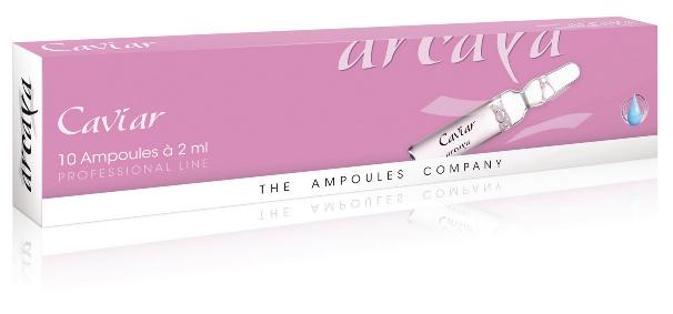Arcaya Caviar Ampoules Ελαστικότητα, Ανόρθωση, Βελτίωση της Πυκνότητας της Επιδερμίδας και άμεση Σφριγηλότητα 10x2ml