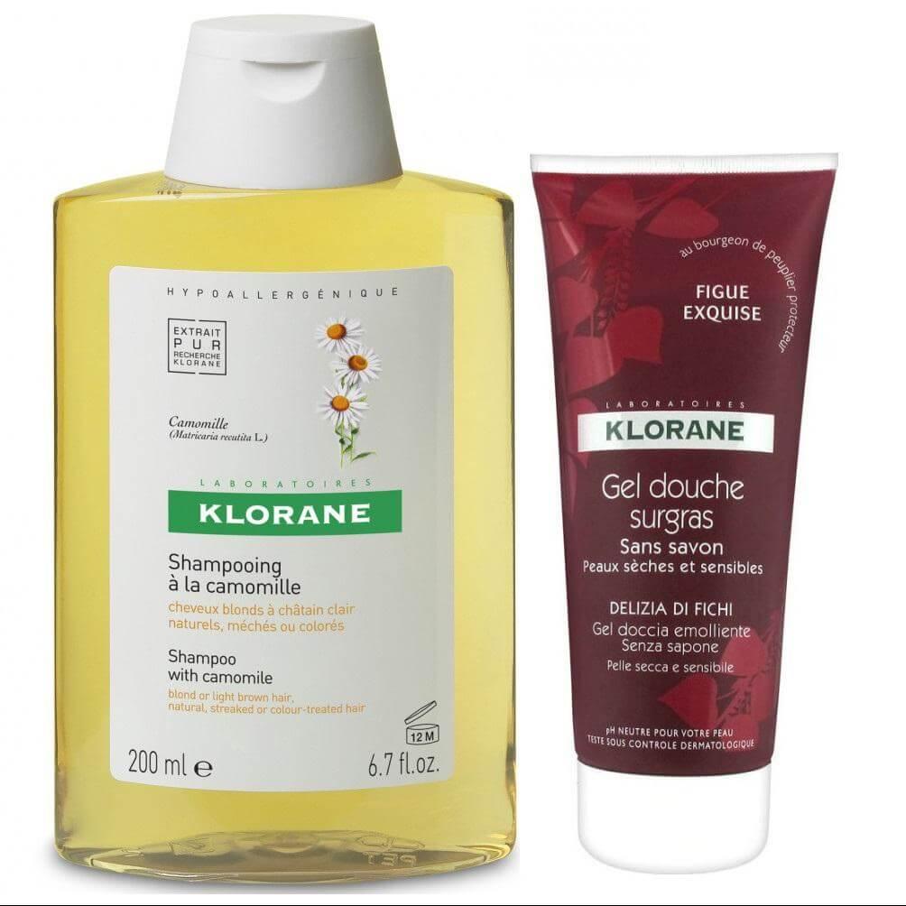 Klorane Shampoo with Chamomile Σαμπουάν με Εκχύλισμα Χαμομηλιού 400ml + Δωρο Gel Douche Surgras Fig Squisita Αφρόλουτρο 200ml