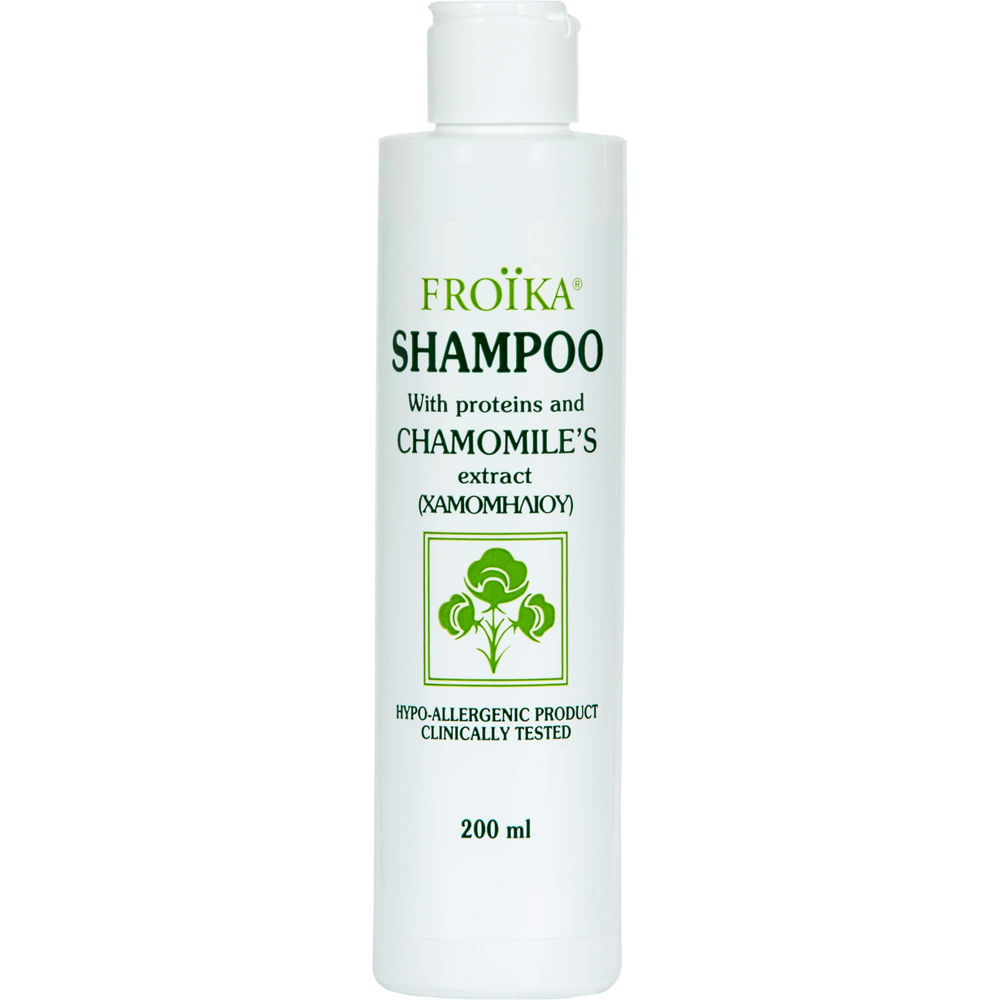 Froika Chamomiles Shampoo Σαμπουάν με Πρωτεΐνες και Εκχύλισμα Χαμομηλιού για Όλους Τους Τύπους Μαλλιών 200ml