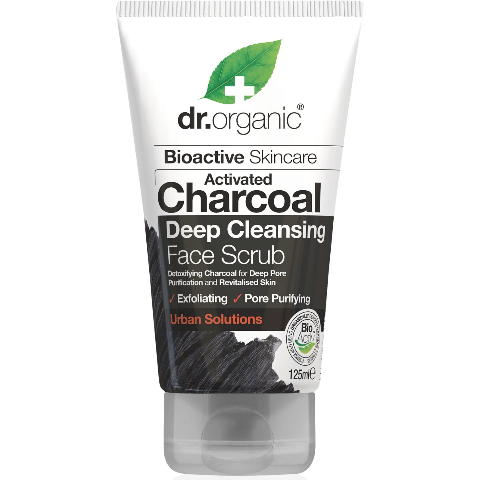 Dr.Organic Charcoal Face Scrub Κρέμα Απολέπισης Προσώπου με Ενεργό Άνθρακα 125ml