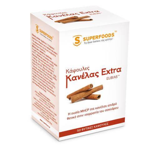 Superfoods Κάψουλες Κανέλας Extra EUBIAS™ Super-Θετική Επίδραση Από Την Κανέλα 50caps