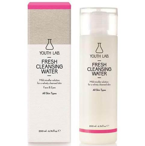 Youth Lab Fresh Cleansing Water All Skin Types Ήπιο Διάλυμα Καθαρισμού Πρόσωπο-Μάτια, για Καθαρή, Μεταξένια Επιδερμίδα 200ml