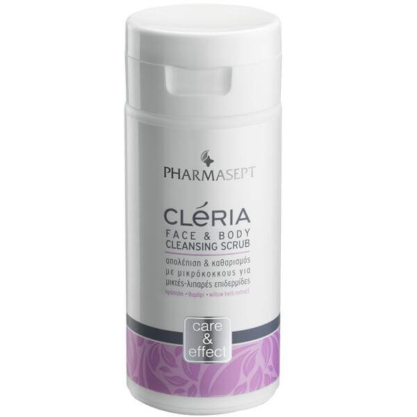 Pharmasept Cleria Face & Body Cleansing Scrub Βαθύς Καθαρισμός & Απολέπιση 150ml
