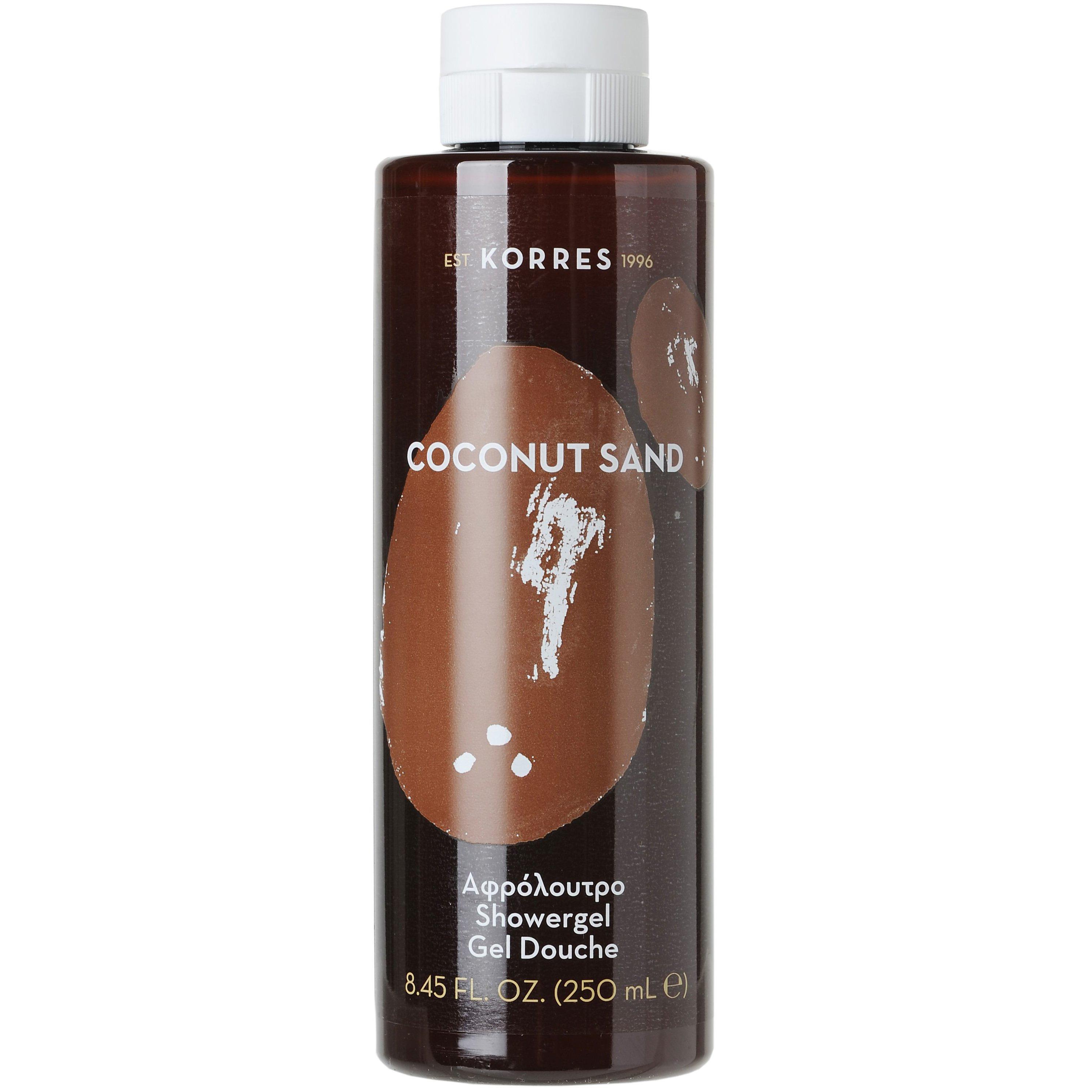 Korres Showergel Coconut Sand Αφρόλουτρο με Ενυδατικές Πρωτεΐνες Σιταριού 250ml
