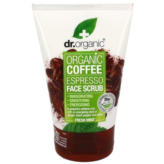 Dr. Organic Coffee Espresso Face Scrub with Fresh Mint Απολεπιστικό Προσώπου 125ml
