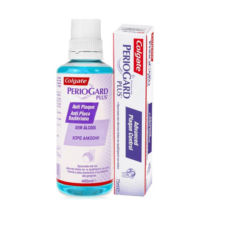 Colgate Πακέτο Προσφοράς Plus Anti-Plaque Στοματικό Διάλυμα 400ml & Plus Οδοντόκρεμα 75ml Προσφορά -50%