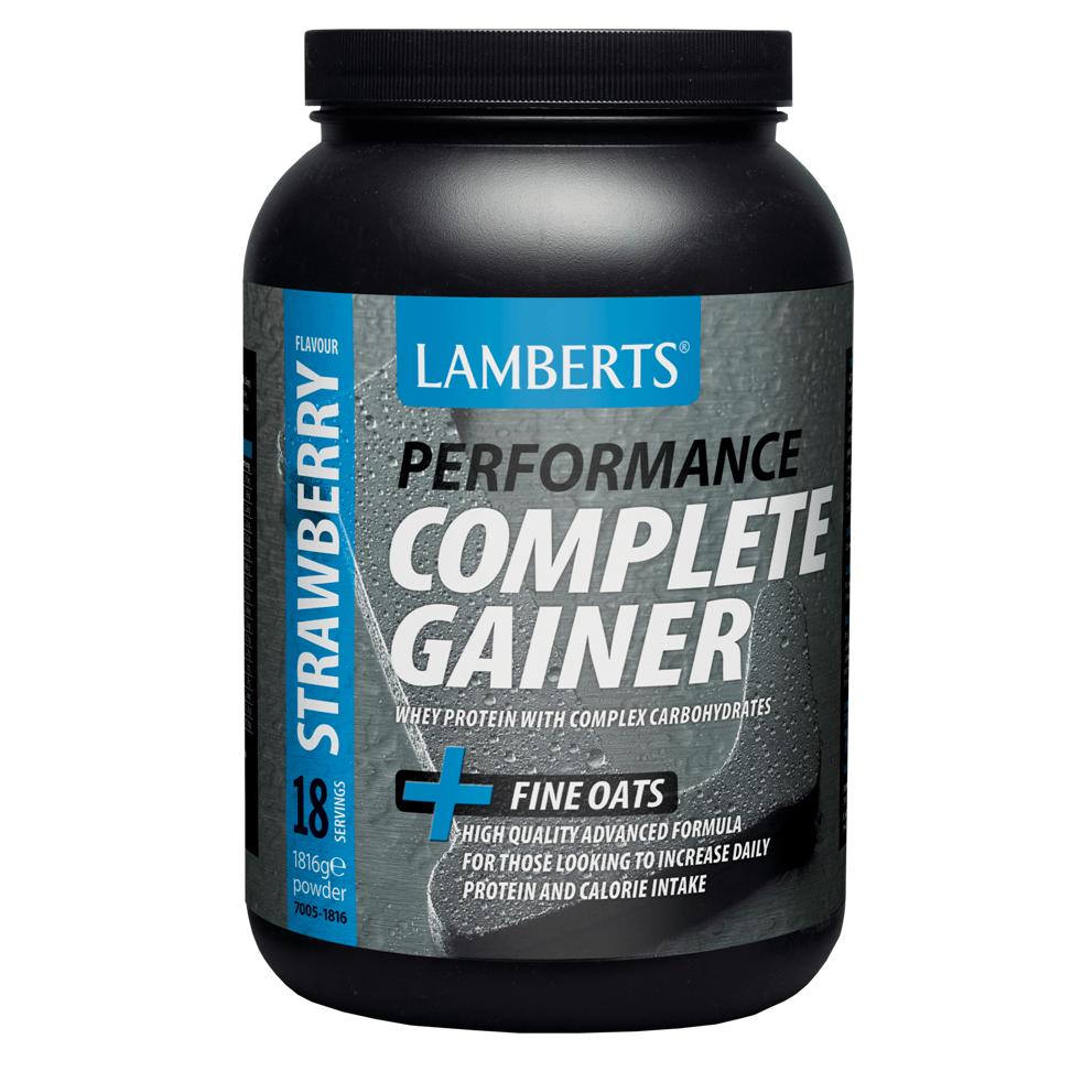 Lamberts Complete Gainer Πρωτεΐνη σε Σκόνη Ορού Γάλακτος,μεΣύμπλοκο Υδατανθράκων ,Κρεατίνης, Βήτα Αλανίνης καιHMB1816mg – Chocolate