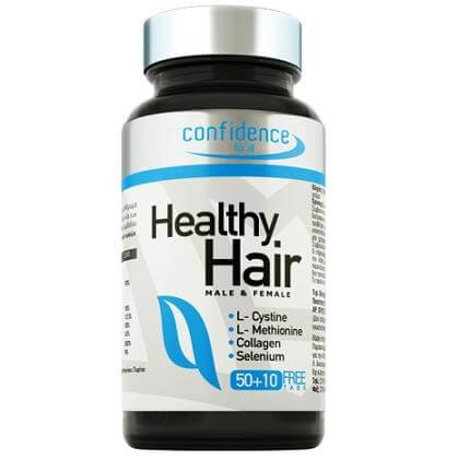 Confidence Healthy Hair Βελτιώνει την Υγεία των Μαλλιών και των Νυχιών 60 tabs (50+10 δώρο)