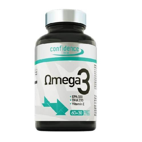 Confidence Omega 3 1000mg Πλούσιο Σε Απαραίτητα Λιπαρά Οξέα EPA Και DHA (60+30δώρο)