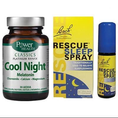 Power Health Classics Platinum Cool Night 30 Κάψουλες+ ΔΩΡΟ Rescue Night Spray 20ml