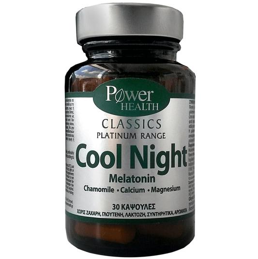 Power Health Platinum Cool Night Συμπλήρωμα Διατροφής, Φυσική Φόρμουλα Kατά της Αϋπνίας 30 caps