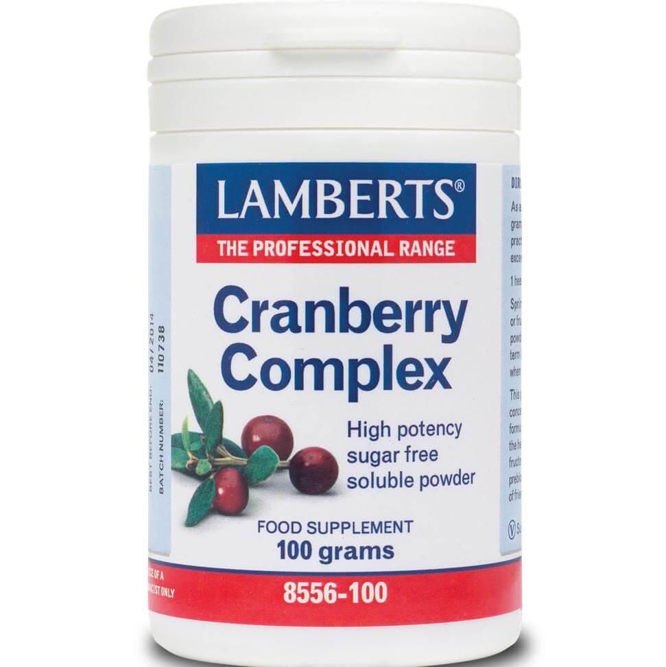 LambertsCranberry Complex Συμπλήρωμα ΔιατροφήςΜε Βιταμίνη C για τη Διατήρηση της Υγείας του Ουροποιητικού Συστήματος 100grams