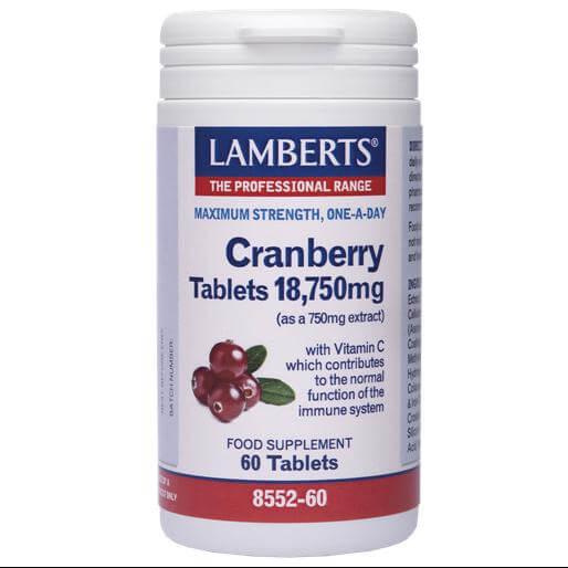 Lamberts CranberryΣυμπλήρωμα Διατροφής για τη Διατήρηση της Υγείας του Ουροποιητικού Συστήματος60 tabs