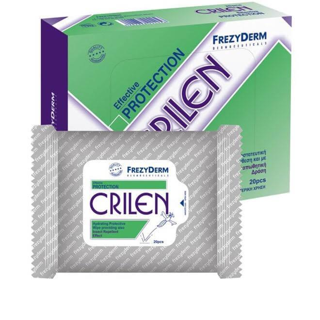 Frezyderm Crilen Wipes Υγρά Ενυδατικά Μαντηλάκια Με Προστατευτική Σύνθεση Kαι Εν καλοκαίρι   κουνούπια   έντομα   εντομοαπωθητικά roll on   τσιρότα