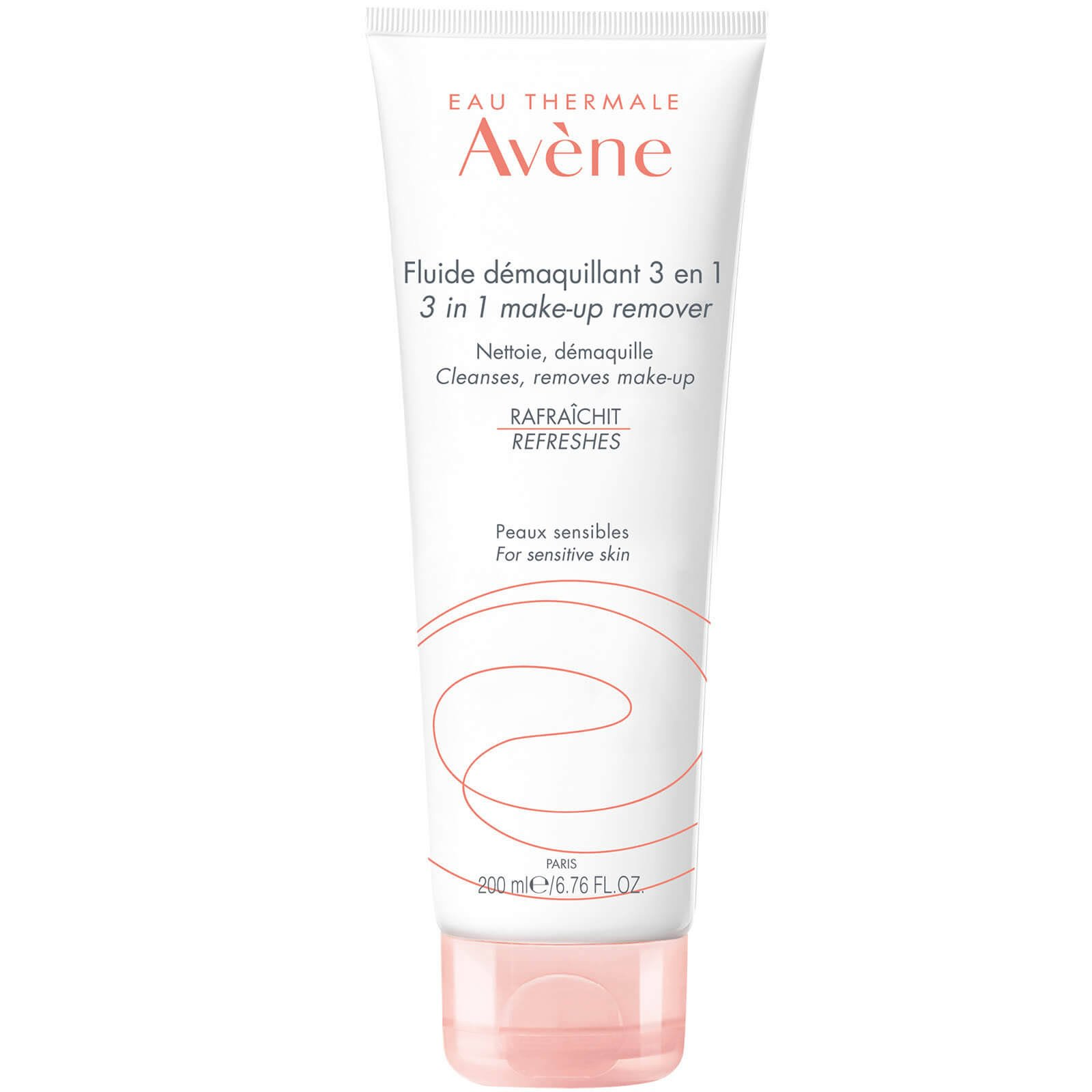 Avene 3in1 Make Up Remover Γαλάκτωμα Καθαρισμού & Ντεμακιγιάζ Κατάλληλο για Ευαίσθητες Επιδερμίδες 200ml