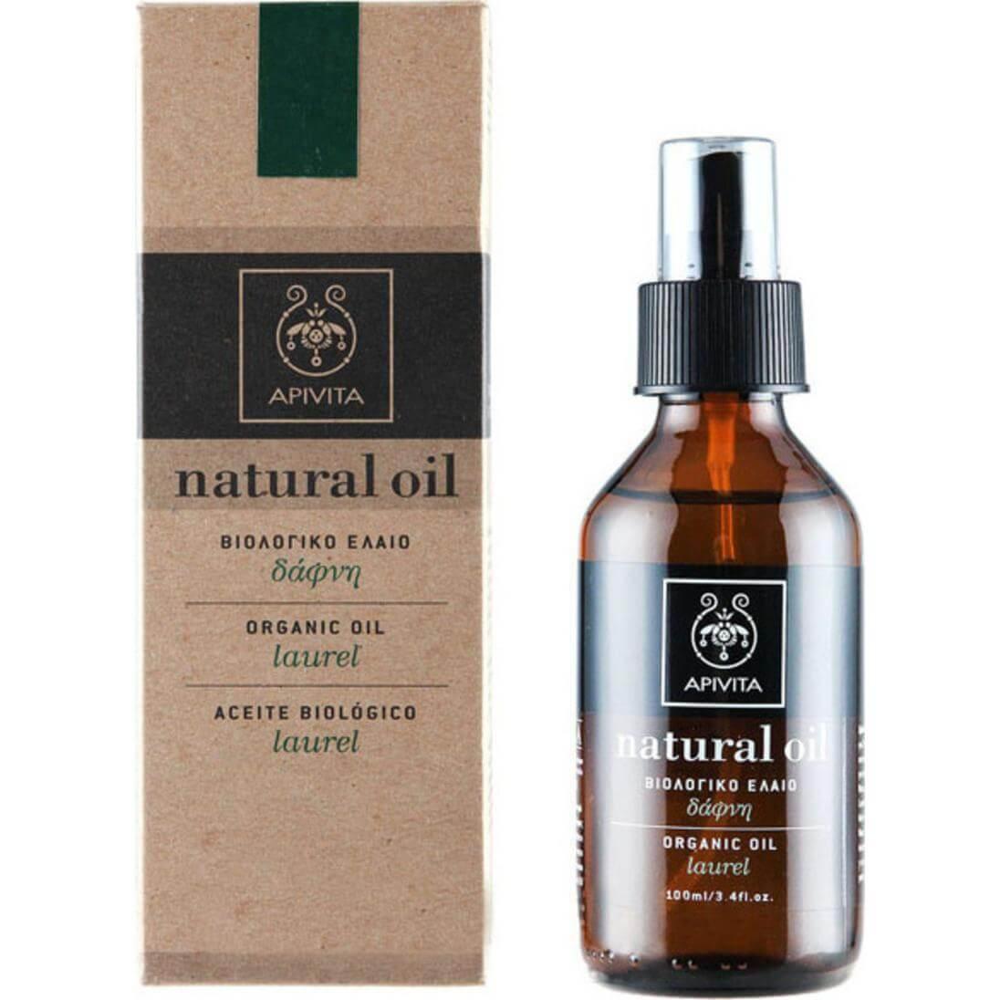 Apivita Natural Oil Βιολογικό Έλαιο Δάφνη 100ml