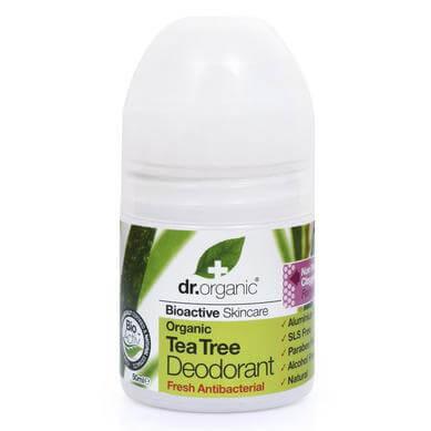 Dr Organic Organic Tea Tree Deodorant Αποσμητικό με Βιολογικό Τεϊόδεντρο 50ml