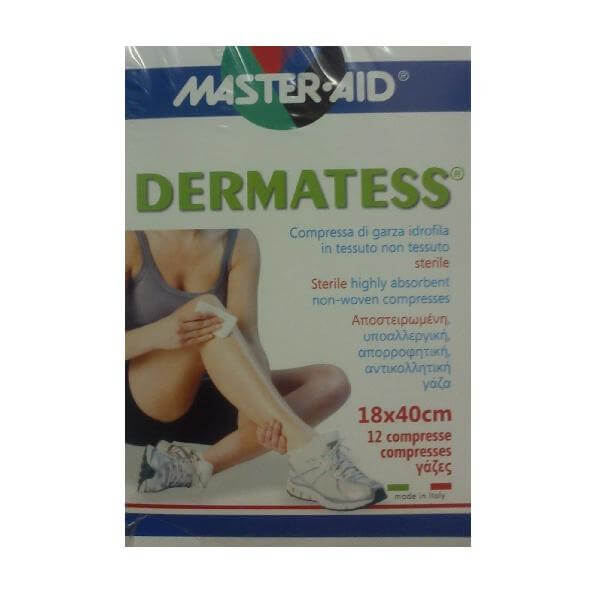 Master Aid Dermatess Αντικολλητικές Γάζες 18×40 12τεμ.
