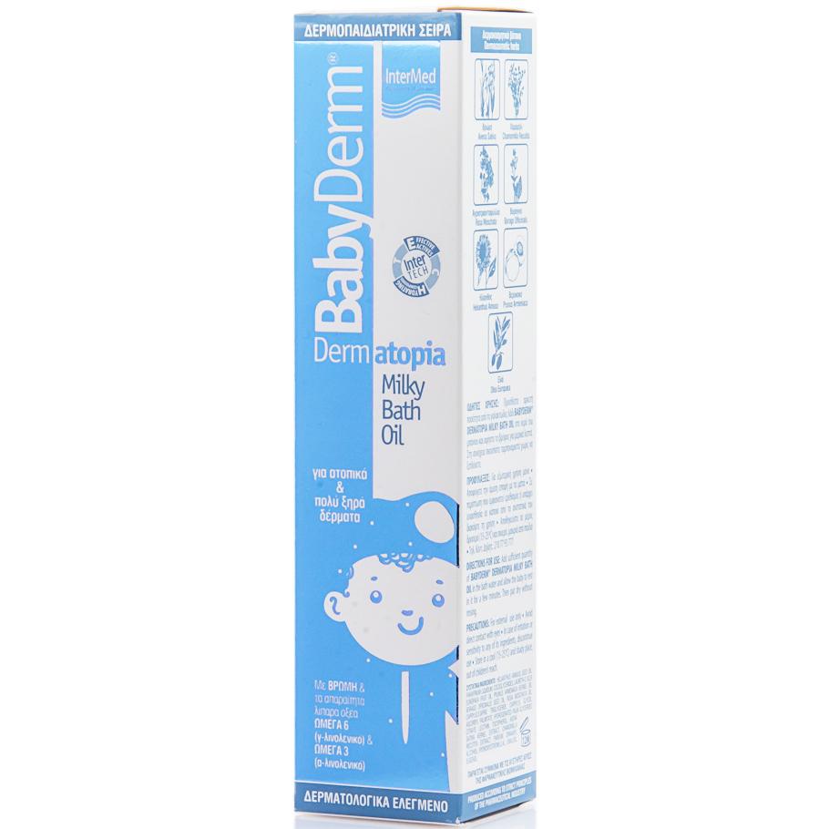 InterMed Babyderm Dermatopia Milky Bath Oil Γαλακτώδες Λάδι Μπάνιου για Ατοπικά & Πολύ Ξηρά Δέρματα 200ml