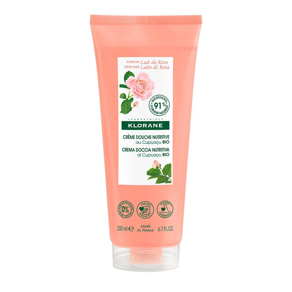 Klorane Nourishing Shower Cream Θρεπτικό Κρεμώδες Ντους με Έλαιο Τριαντάφυλλο & Βιολογικό Βούτυρο Cupuacu 200ml