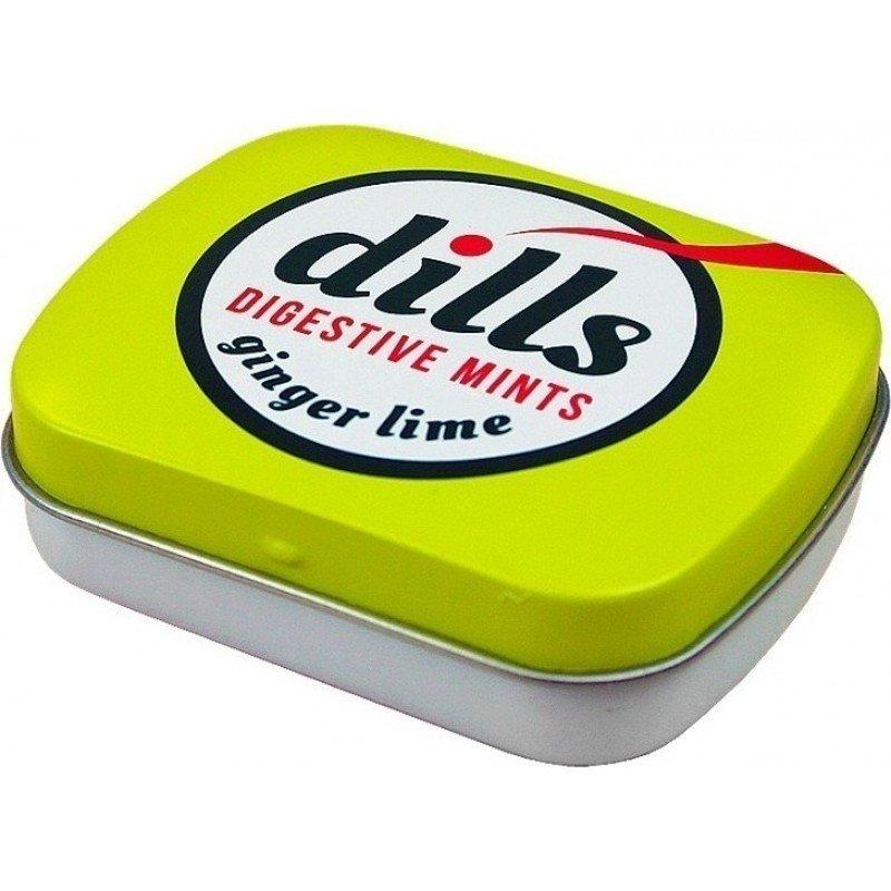 Dills Digestive Mints Ginger & Lime Παστίλιες Για Τη Χώνεψη Και Την Κακοσμία 15g