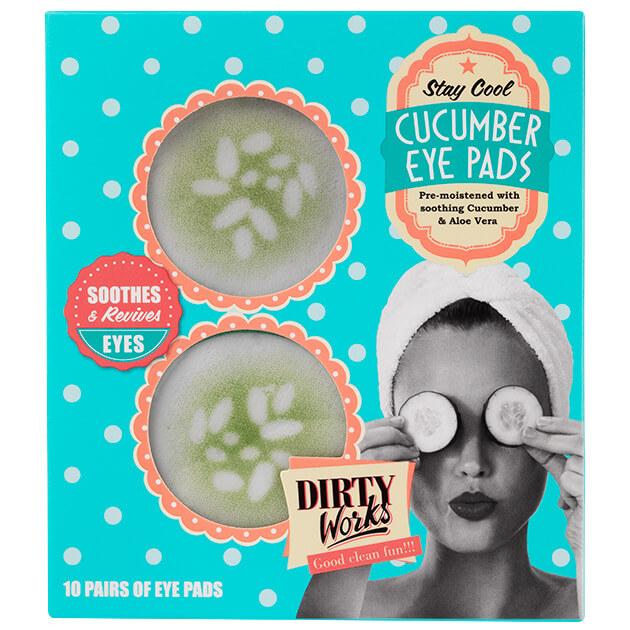 Dirty Works Cucumber Eye Pads Αναζωογονητικά Επιθέματα Ματιών10 Ζεύγη