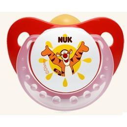 NUK Trendline Disney Κόκκινη Πιπίλα Καουτσούκ Με Κρίκο Μεγέθη 1-2 – Μέγεθος 1 (0-6 μηνών)