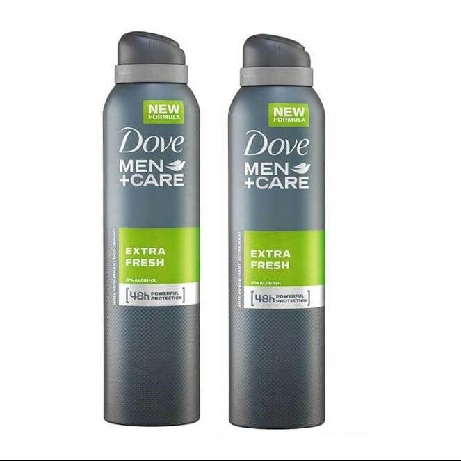 Dove Men Spray Αποσμητικό Spray Extra Fresh 2 x150ml Πακέτο 1+1