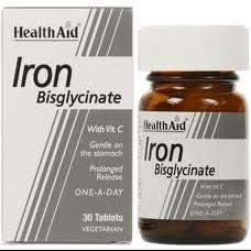 Health Aid Iron Bisglycinate Σίδηρος Δισγλυκινικός 90 tabs