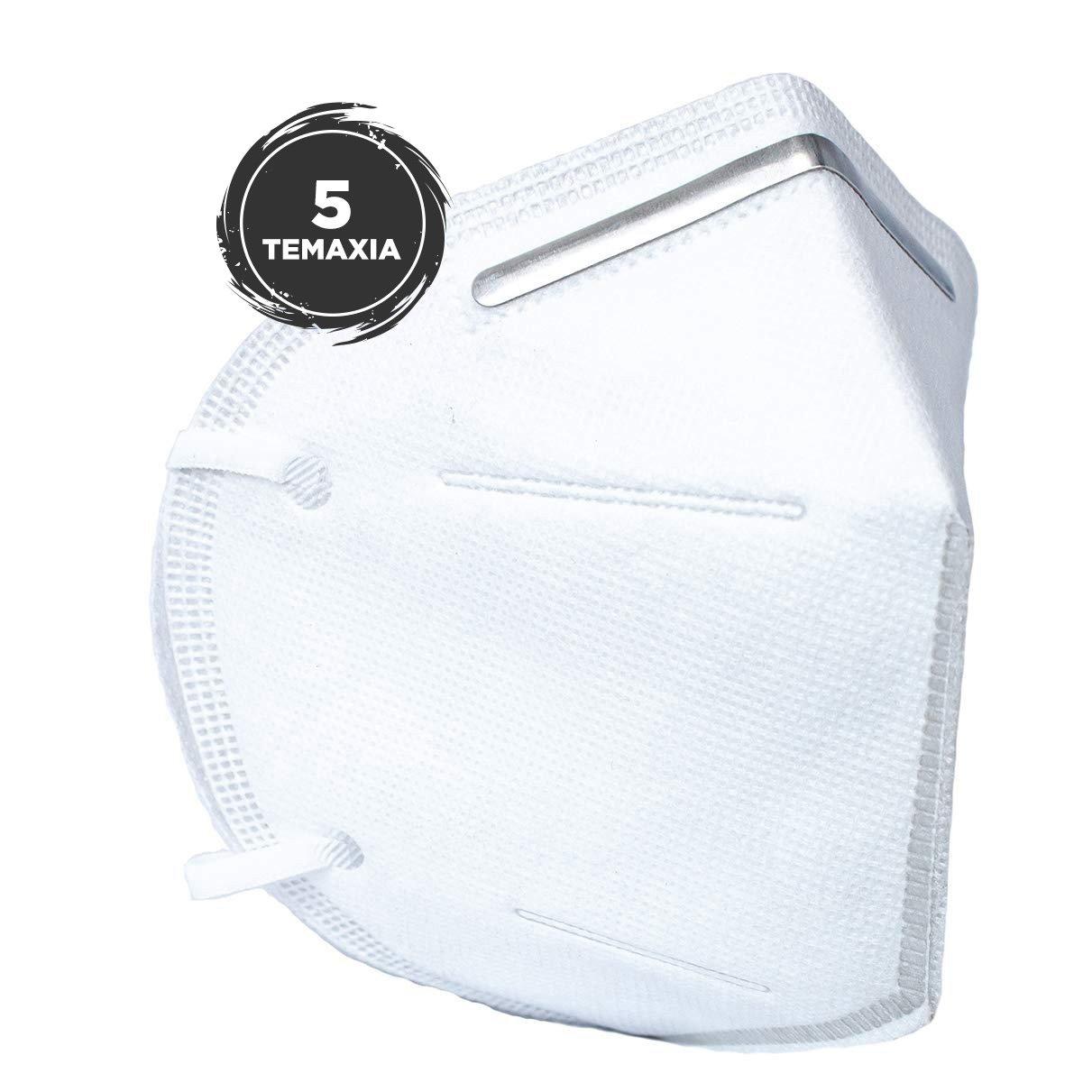 Disposable Mask For Civil Use FFP2 – KN95 Μάσκα Προστασίας με Μεταλλικό Έλασμα Μίας Χρήσης 5 Τεμάχια