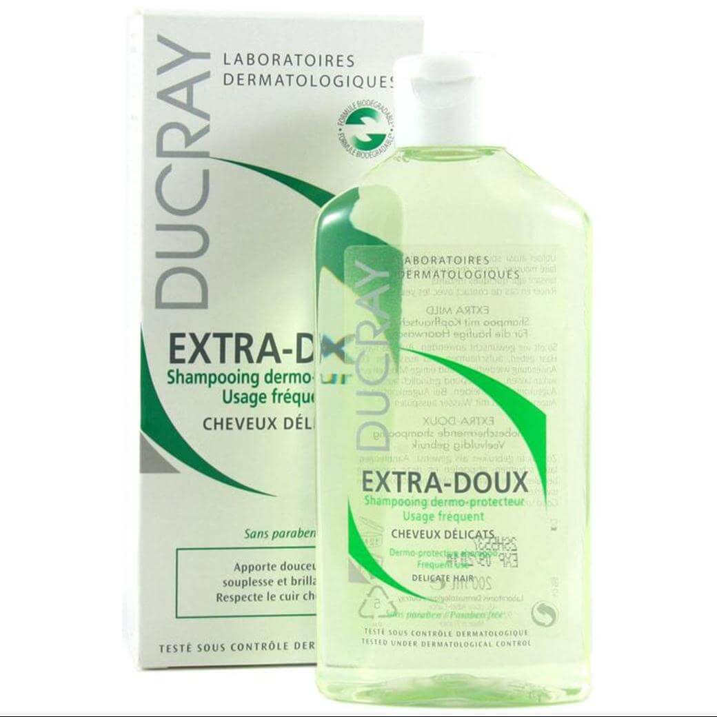 Ducray Extra-Doux Δερμοπροστατευτικό ShampooΣυχνής Χρήσης για το Ευαίσθητo Τριχωτό – 200ml