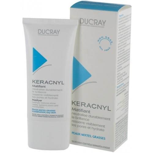 Ducray Keracnyl Creme Matifiante 30ml, Ενυδατική Κρέμα Ημέρας για Ματ Αποτέλεσμα– Μικτό/Λιπαρό Δέρμα