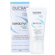 Ducray Kerancyl Repair Creme Ενυδατική, Επανορθωτική & Καταπραϋντική Κρέμα για Δέρματα με Τάση Ακμής 50ml