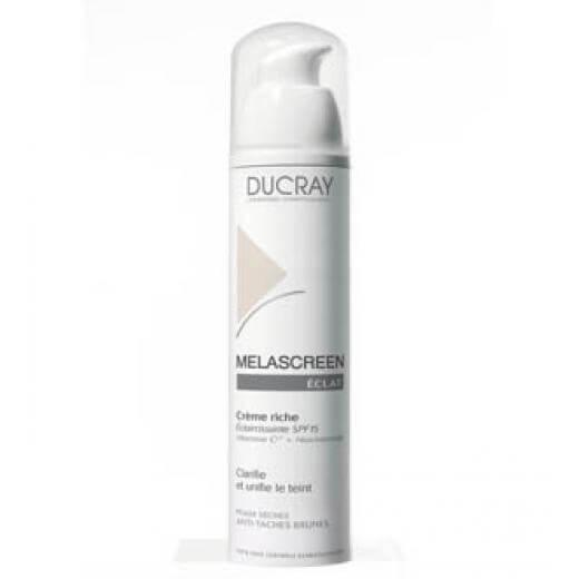 Ducray Melascreen Eclat Creme Riche SPF 15 40ml, Κρέμα για Δυσχρωμίες Πλούσιας Υφής