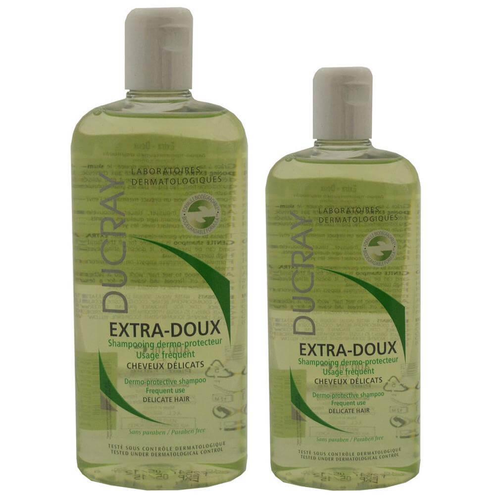 Ducray Πακέτο Προσφοράς Extra-Doux Shampooing Δερμοπροστατευτικό Σαμπουάν για Συχνή Χρήση 400ml +200ml Δώρο