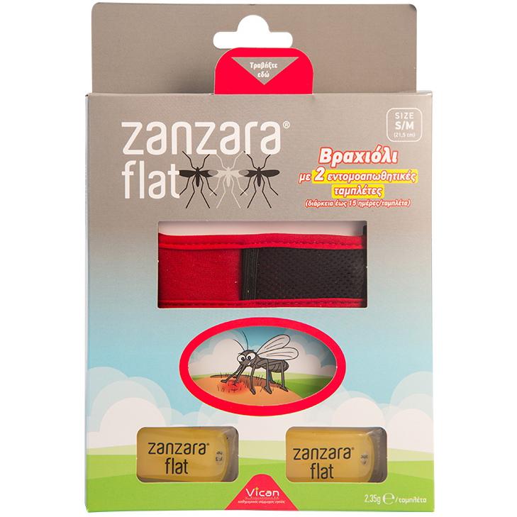 Vican Zanzara Flat - Εντομοαπωθητικό Βραχιόλι με 2 Εντομοαπωθητικές Ταμπλέτες, σ καλοκαίρι   κουνούπια   έντομα   εντομοαπωθητικά γαλακτώματα   spray   βραχιολάκ