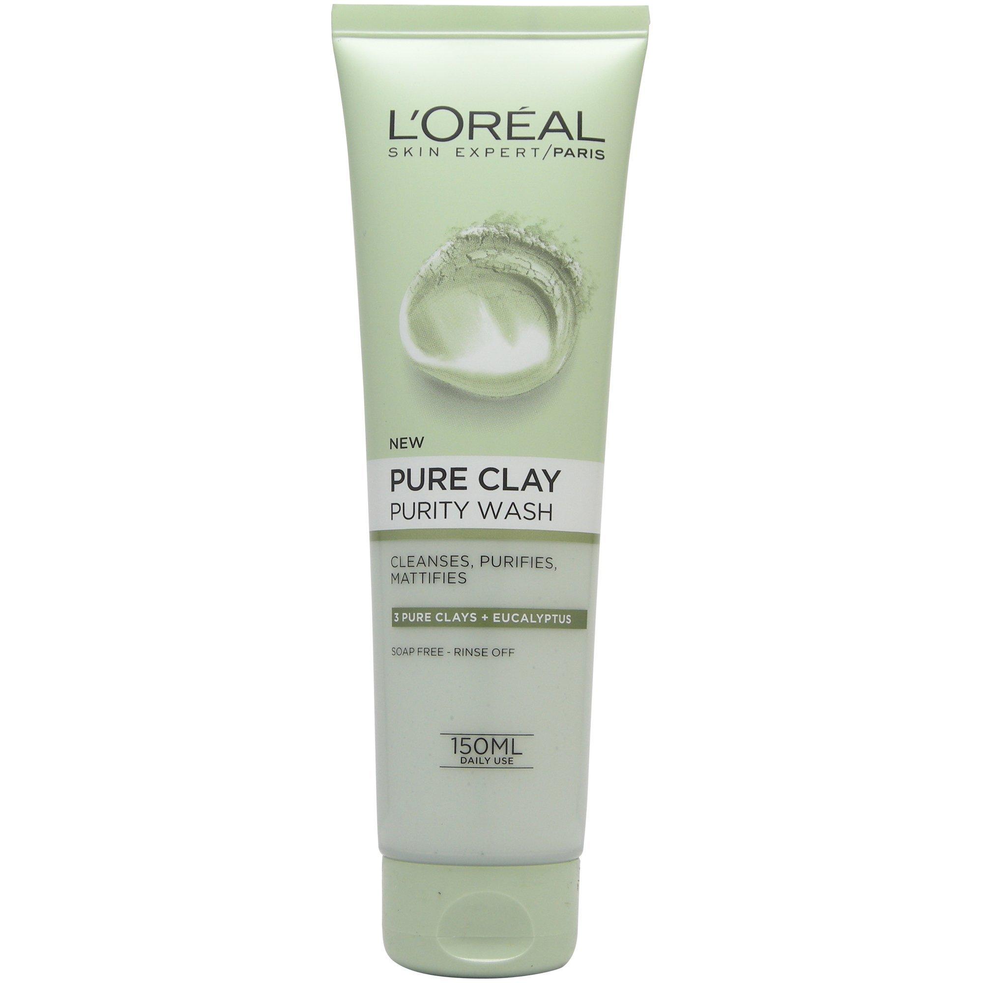 L'oreal Paris Pure Clay Purity Wash Τζελ Καθαρισμού με Άργιλο για Ματ Αποτέλεσμα 150ml