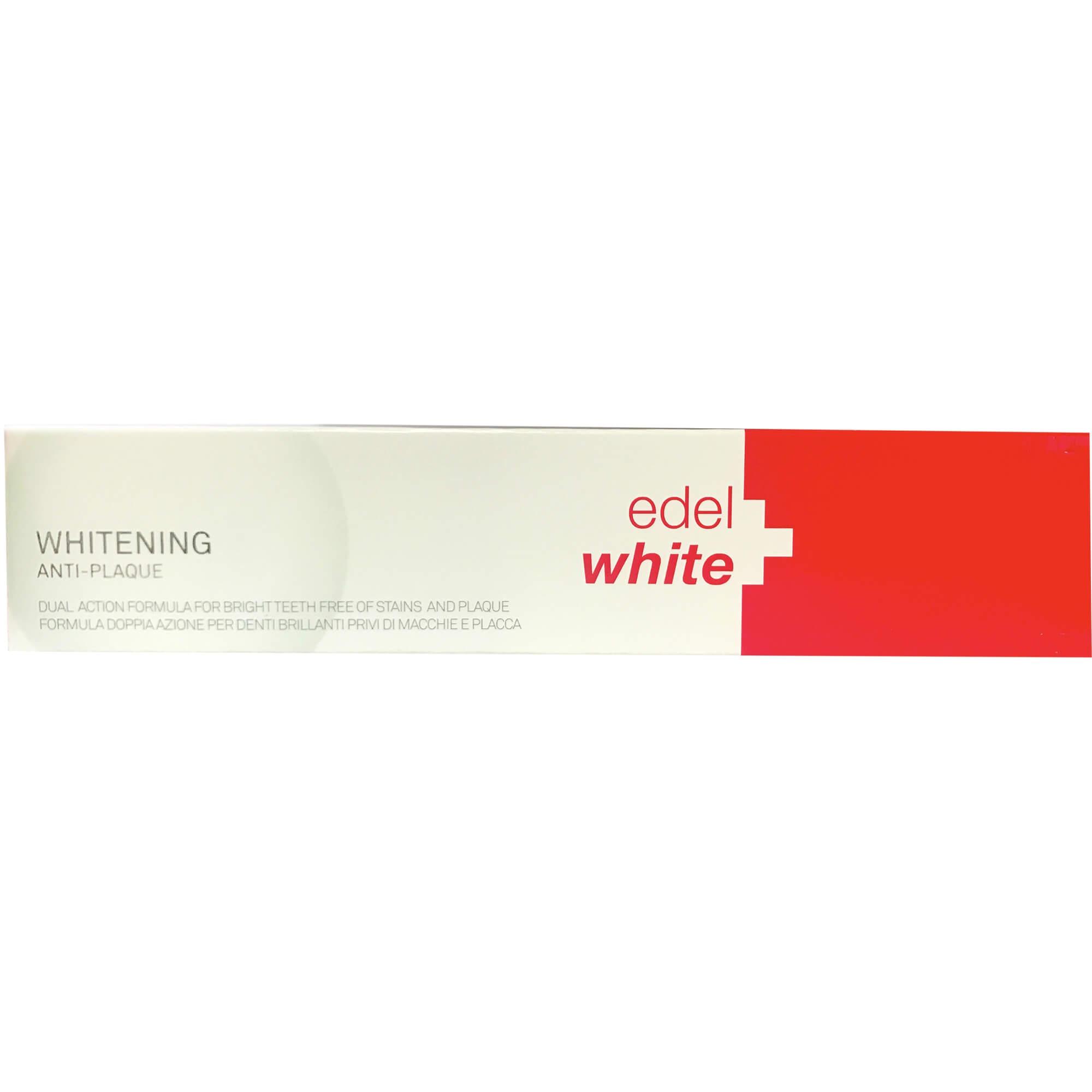 Edel White Whitening Anti-Plaque Οδοντόκρεμα Λεύκανσης 75ml