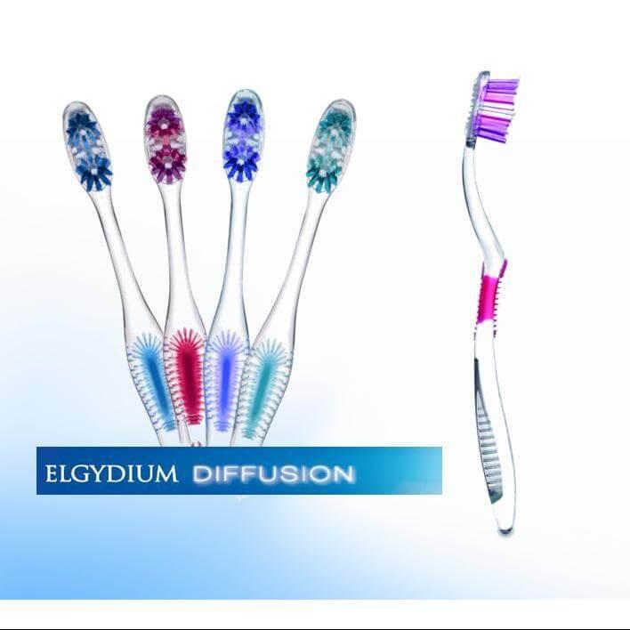 Elgydium Diffusion Οδοντόβουρτσα Με Πρωτοποριακή Τεχνολογία AFT Για Ολοκληρωμένο Και Πλήρη Καθαρισμό Του Στόματος Soft – μωβ