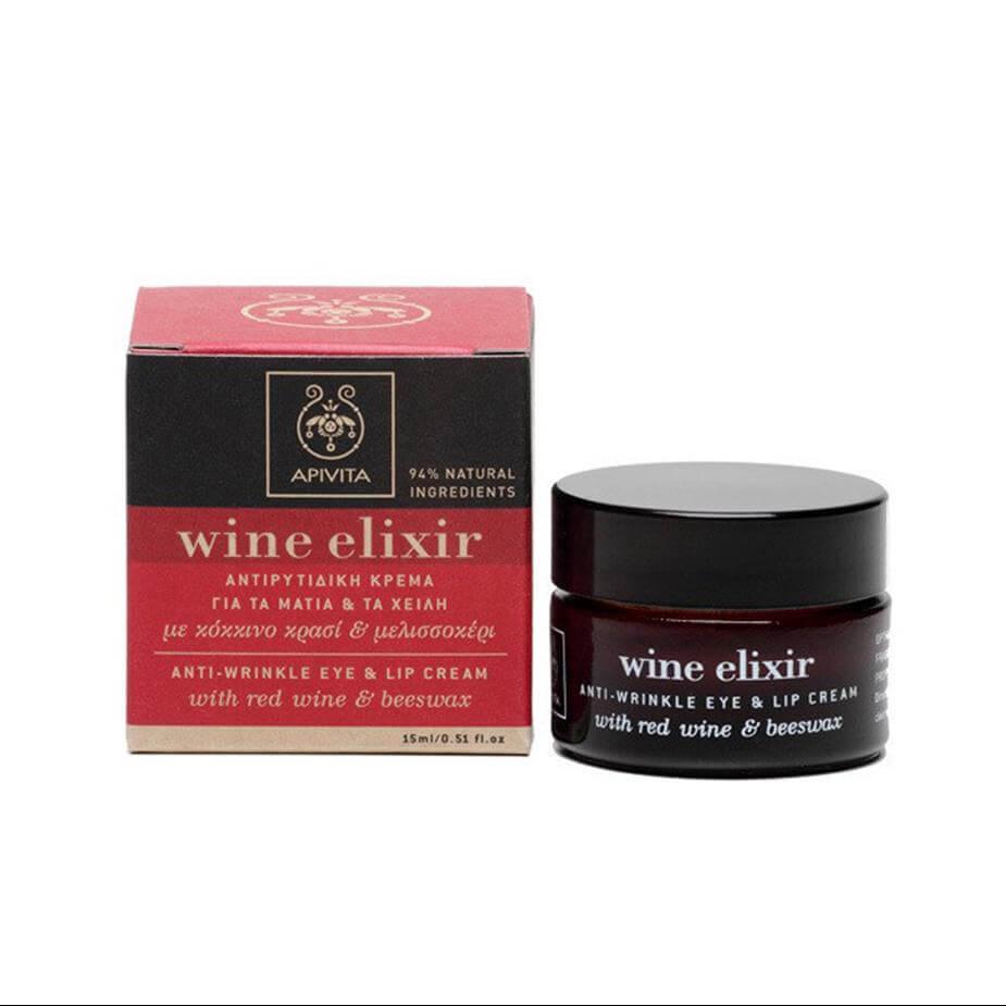 Apivita Wine Elixir Αντιρυτιδική Κρέμα Για Τα Μάτια Και Τα Χείλη Με Κερί Μελισσώ manufacturers categories   apivita   μάτια