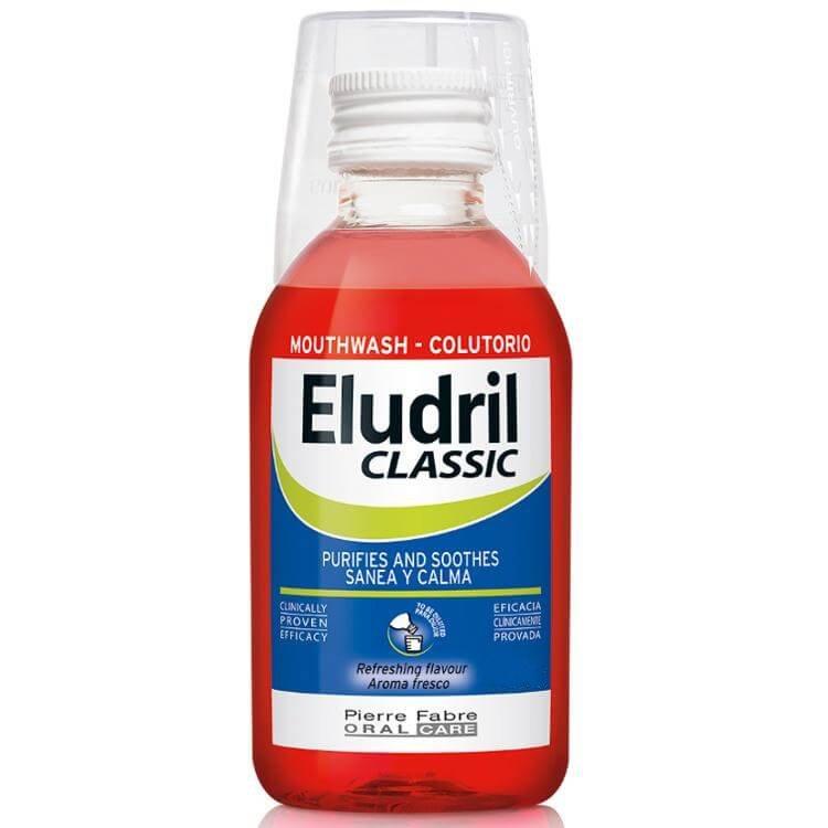Eludril Classic Υγρό Διάλυμα για Στοματικές Πλύσεις, Εξυγιαντικό, Καταπραϋντικό – 200ml
