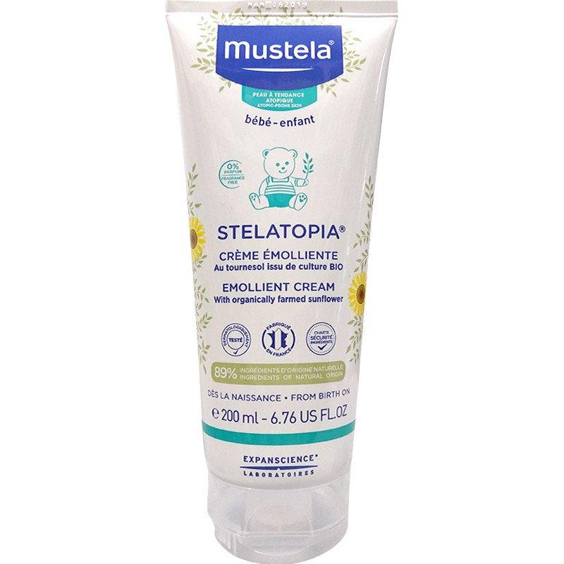 Mustela Stelatopia Emollient Cream Κρέμα για Μωράκια Κατά του Κνησμού 200ml