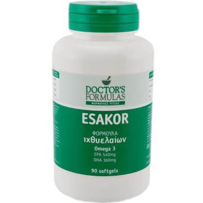 Doctors Formulas Esakor Ωμέγα 3 Λιπαρών Οξέων 90Softgels