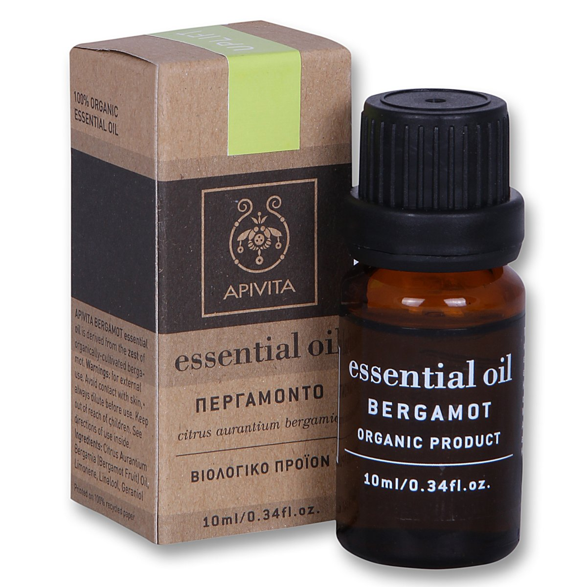 Apivita Essential Oil Περγαμόντο 10ml