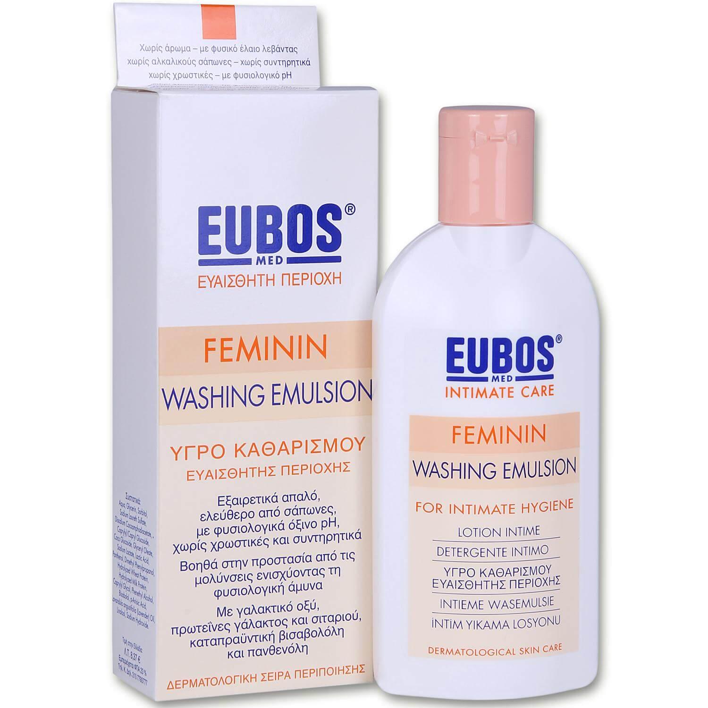 Eubos Feminin Liquid Washng Emulsion Απαλό Υγρό για τον Καθημερινό Καθαρισμό και την Περιποίηση της Ευαίσθητης Περιοχής 200ml