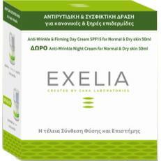 Exelia Anti-Wrinkle & Firming Day Cream SPF15 για κανονικές επιδερμίδες 50ml + Δώρο Anti-Wrinkle Night Cream για κανονικές 50ml